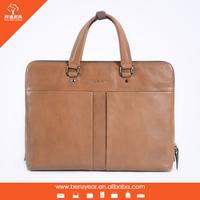 Latest design genuine leather laptop briefcase for men