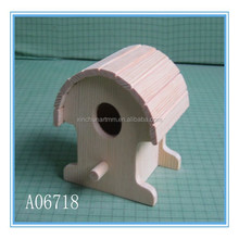 High quality natural cheap wooden bird house wholesale
