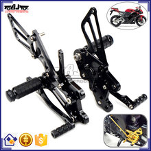 ARS-CBR600-10 Top Quality Black CNC Billet Racing Rearset Foot Pegs Motorcycle Rear Sets For Honda CBR600RR 2007-2015