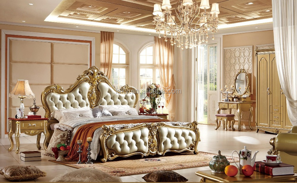 Exceptionnel 0313 Italian Royal Bedroom Furniture Set: 47
