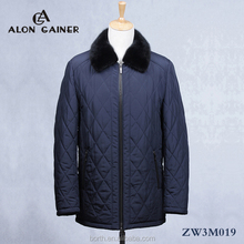 fur mink collar cotton-padded clothes for men