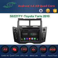 Android 4.4 Car audio stereo system/radio/dvd/gps navi for Toyota Yaris 2010