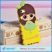 USA popular Cute little girl shape mobile phone case silicone cell phone cover for Iphone