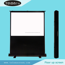 TELON Portable Floor up screen /Floor pull up screen/Floor screen with matte white