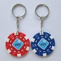 Creative fashion design souvenir gift ABS poker chip key chain