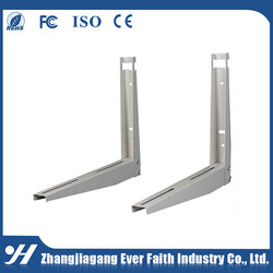 Durable In Use Steel Material Folded Air Conditioner Bracket With Sliding Bar