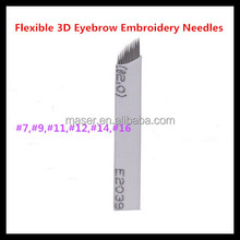 Hot Sale Microblade Eyebrow Needles, Sterile White Curve 3D embroidery Needles