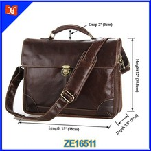 Professional OEM Leather Bag Manufacturer,Men Top Grade Genuine Leather ShoulderMessenger Bag,Mens Vintage Leather Messenger Bag