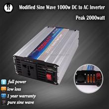 1kva dc to ac car power inverter 1000w 48v 220v for motor drive 1 phase for 1000 watt backup battery