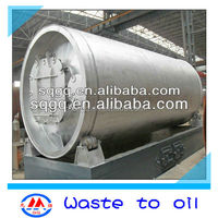 45% Oil Yield Rate Waste Tire Plastic Rubber Pyrolysis to Oil Recycling Machine/Plant for Sale