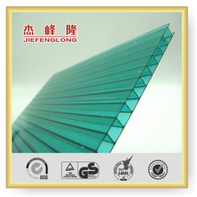 high quality good price grass green polycarbonate hollow sheet roofing sheet