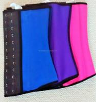 2015Instyles corset sexy sliming 4color latex waist trainer latex wiast cincher ladies underwear