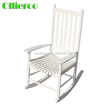 Hot selling durable White color wooden rocking chair