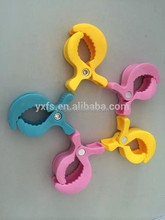 2015 Yixiang new arrival 73*51mm plastic Clamp Alligator Pram Clip many colours available