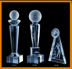 popular crystal trophy 3d