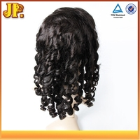 JP Hair Nice Feeling Cheap Price Full Lace Wigs Spiral Wave Malaysian Hair