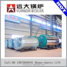 Dual fuel fired automatic feeding gas boiler