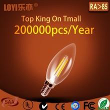 pure glass LED bulb, C35 E14 LED candle lights hot-sale in China