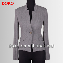 2014 stand collar long sleeves women business suit coats