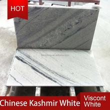 Chinese beautiful viscount white granite tile with black vein