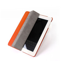 In Stock! Four Folding Protective Case For iPad 2 Stand Leather Case Smart Cover For iPad 4
