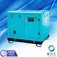 1.4m3/min 7 bar AC power electric motor oil less 7.5kw 10hp factory supply rotary screw air compressor