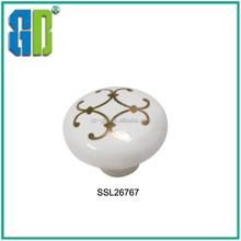 Classical Golden Ceramic Circle handles/Crack Ceramic knobs
