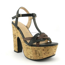 New Style Sandals 2015 Women Sandals Shoes Casual Black High Heel Shoes For Ladies