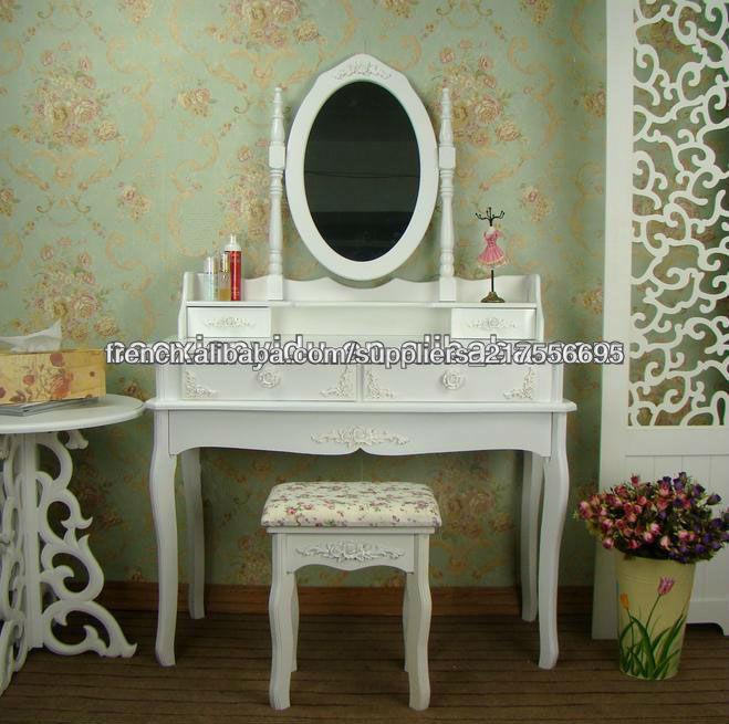 Commode blanche commode miroir pour meubles et d coration for Miroir western