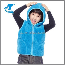 2015 New Children Wear Kids Fur Vest With Hood