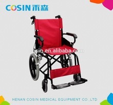 Aluminio ligero plegable silla de ruedas