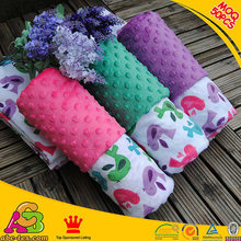 100% polyester 2015 new design ultra soft minky dot baby throw