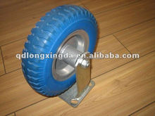 pu solid wheels with 8inch and 200mm and blue color