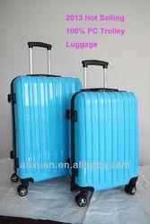pc luggage 2014 Hot selling 100% PC trolley luggage polycarbonate trolley luggage