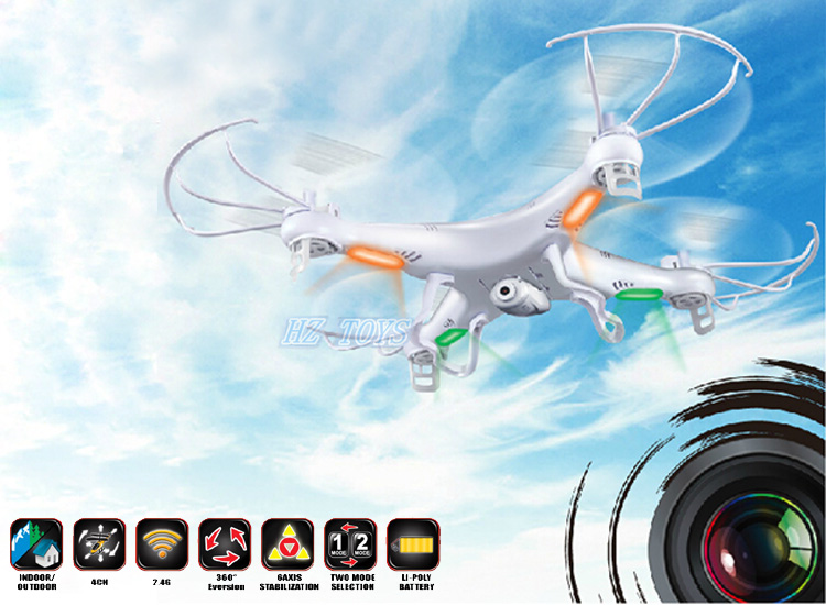 X5C 2.4g 4-axis ufo aircraft quadcopter camera, china drone with lights.