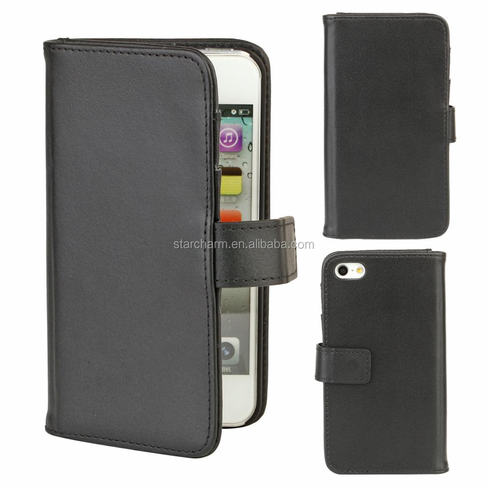 Custom flip business card holder mobile phone case for for Iphone business card holder