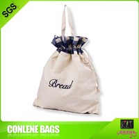 embroidered cotton drawstring toiletry bag