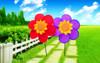 garden decoration polyester windmill 2015 hot kids toys pinwheel
