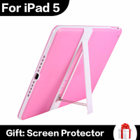 Funny Multi Colors Cheap Tablet PC Case For iPad 5 Tablet Kickstand Holder