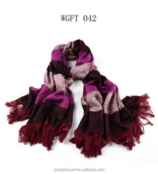 latest dress designs for ladies shawl WGFT042 for women acrylic scarf fashion scarves supplier alibaba china