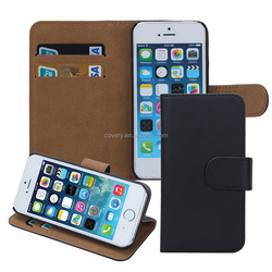 Multicolor wallet leather case for iphone 5 phone