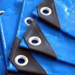 Blue white pe tarpaulin can be customize,tarpaulin making machine