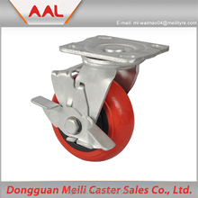 Hot Selling Rubber Caster fixed caster wheel with brake