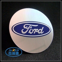 Souvenir Round Car Logo Aluminum Emblem Sticker without Enamel