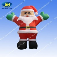 Christmas Decoration Lawn Yard Airblown Santa with Inflatable Santa Hat