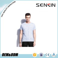 Hemp t shirts wholesale New Design Men Cut and Sew T Shirt Made in China