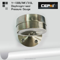 Y-100B-MF-316L diaphragm seal pressure gauge