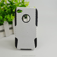 2 in 1 Silicone+PC Hybrid Rugged Armor Phone Cases for iPhone 4 4S 4G
