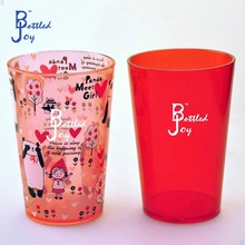 custom printed plastic cup, mini best drinkware high quality food grade travel mug