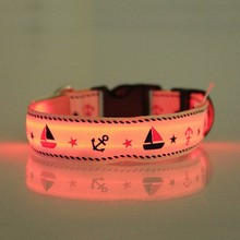 Nylon webbing dog led light collars 2015 the best pet wholesaler